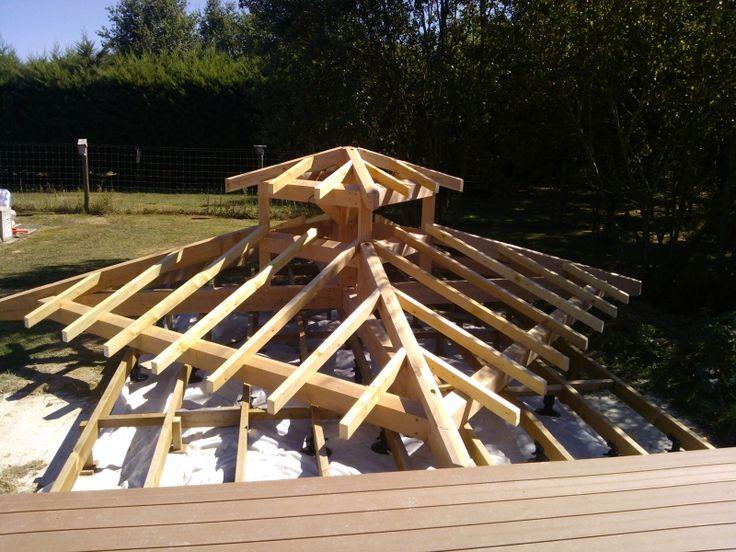 17 mejores ideas sobre gazebo en bois en pinterest for Construire toit terrasse