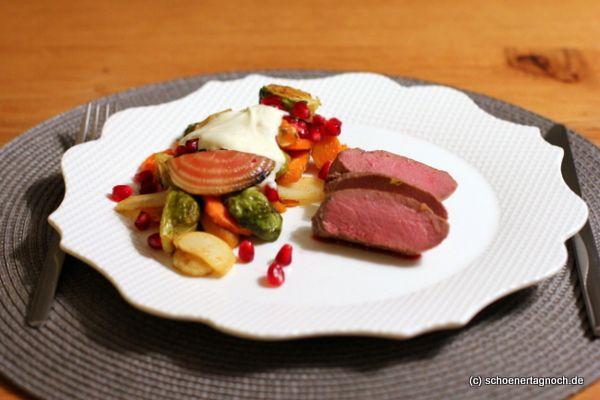 Schöner Tag noch! Food-Blog mit leckeren Rezepten für jeden Tag: Rosa gegarter Rehrücken mit orientalisch gewürztem...