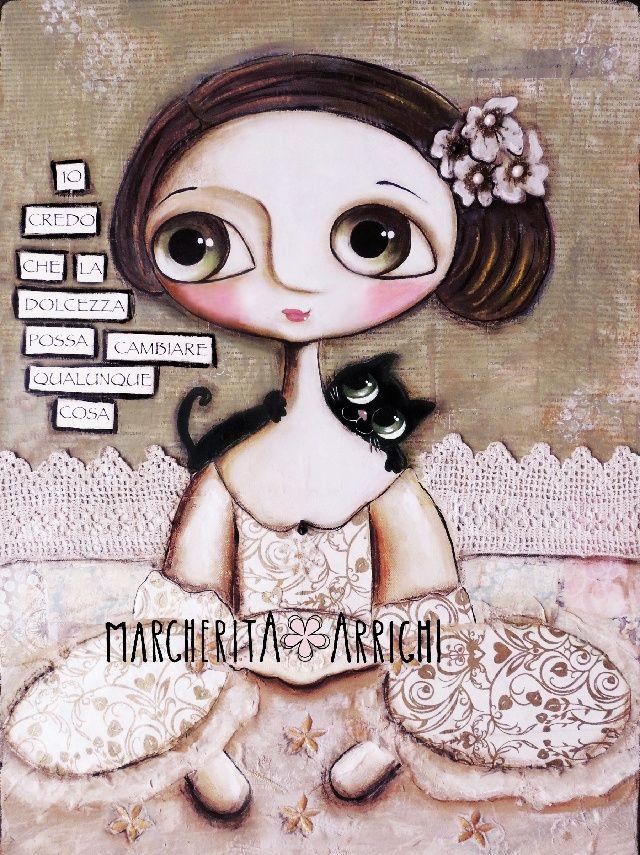 Maria Antonietta occhi grandi ed il suo gatto nero - Dolcezza