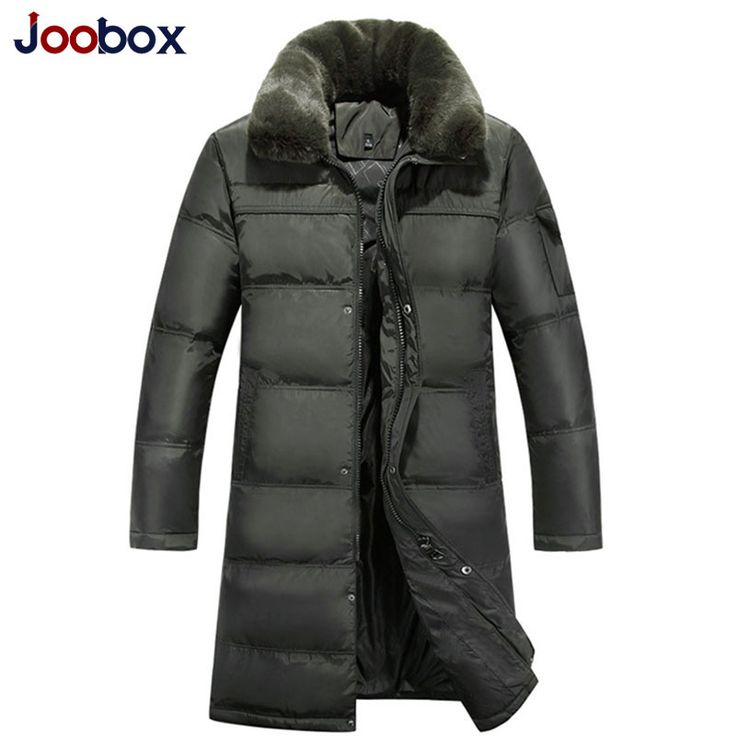 2016 Men's Long Down Jacket Plus Size 4XL Thick Warm Casual Duck Down Clothing  Fur Collar Winter Snow Coats Down Winter Parka