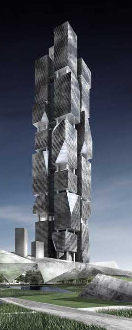 Cluster Complex Tower, Dubai, UAE designed by Denton Corker Marshall Architects