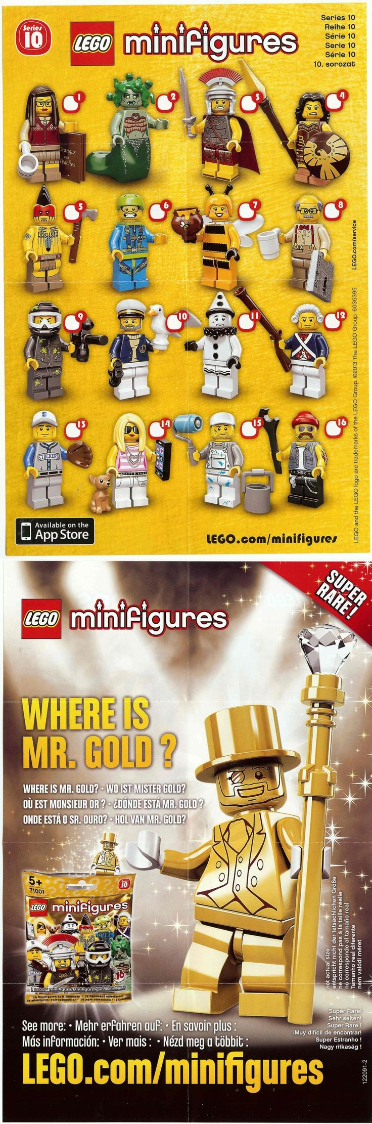 Please note: This is speculative and not official.-  Minifigures Series 10
