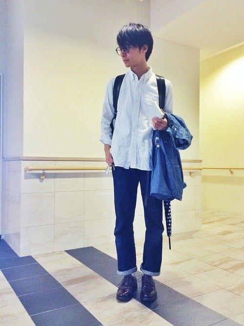 URAAKIHIKOさんの「ボタンダウンシャツ(Woolrich Woolen Mills)」を使ったコーディネート