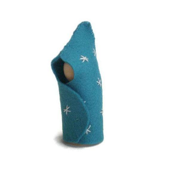 Felt Peg Doll Light Blue Starburst Baby by MissTreeCreations, $5.00