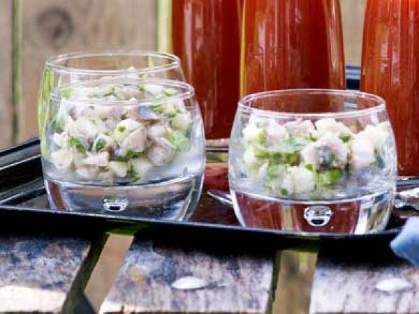 Tartaar van maatjes met granny smith en citroengras - Libelle Lekker