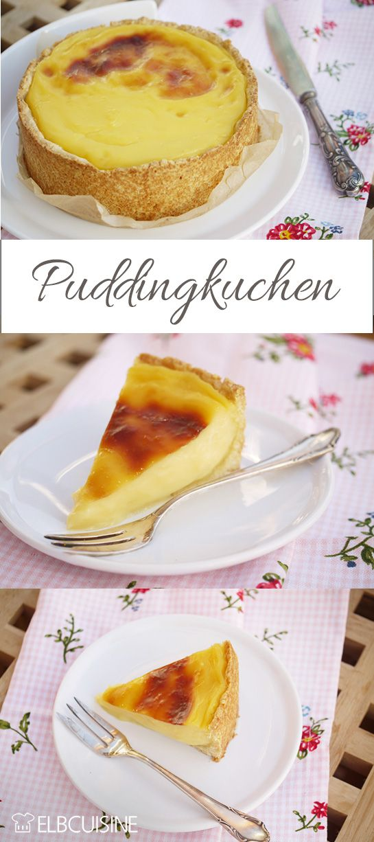 Vanillepudding in Kuchenform – hhhhmmm ein herrliches Rezept! Als Kind habe ich mir immer Vanillepudding zum Mittagessen gewünscht, wenn meine Schwestern länger Schule hatten und ich allein mit meiner Mutter war.