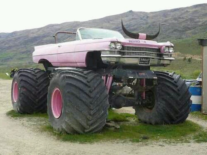 Pink Cadillac Monster Truck Vehicles Pinterest Pink Cadillac