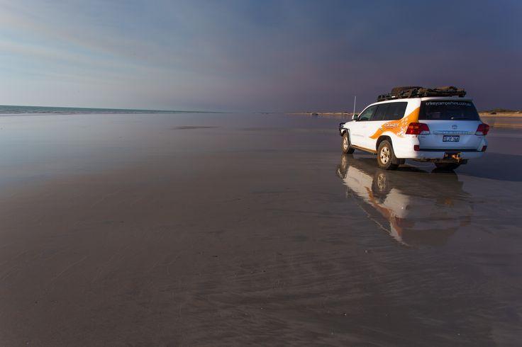Cable Beach, Broome, Western Australia. Broome is the Western gateway to The Kimberley region. #crikeycamper #CampingMadeEasy