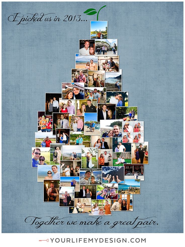 11x14 with 48 photos ❤ CollageDesign by http://yourlifemydesign.com/  #yourlifemydesign #photocollage #shapecollage #numbercollage #gift #giftideas #anniversary #homedecor #home #photography #collage #decor #decoration #shapes
