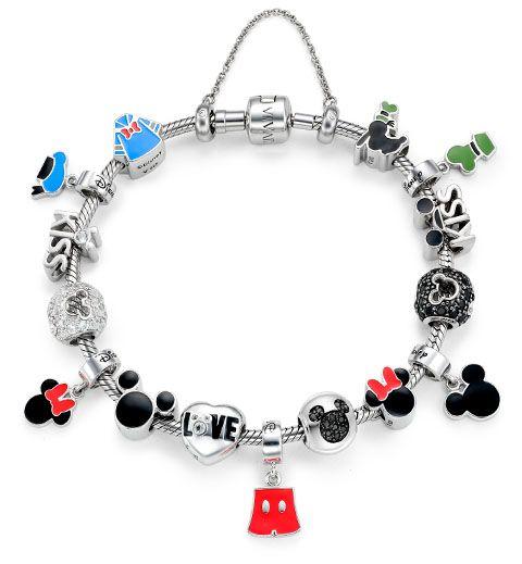 Berloques e charms da Disney que a Vivara lançou, no estilo pulseira Pandora, e homenageando os principais personagens da turma do Mickey!