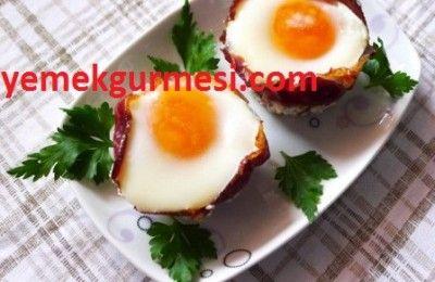 Fırında Pastırmalı Yumurta Tarifi | Yemekgurmesi