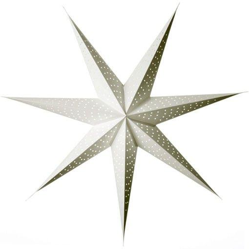 white paper star