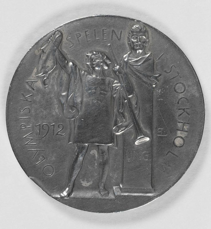 Silver medal awarded to Wilhemina (Mina) Wylie, Olympic Games, Stockholm 1912 (obverse). State Library of New South Wales: http://www.acmssearch.sl.nsw.gov.au/search/itemDetailPaged.cgi?itemID=442739 (R 956 / 13)