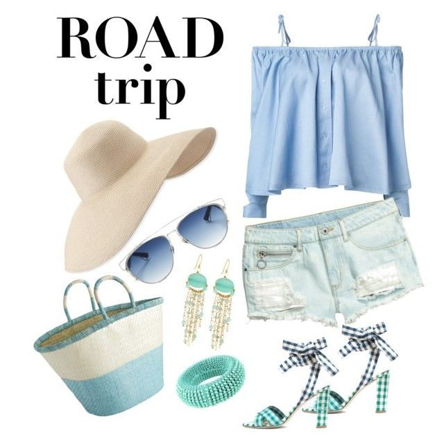 """""""On the go"""" by amaliamatei on Polyvore featuring Sandy Liang, J.Crew, Eric Javits, Pier 1 Imports, Christian Dior, Twin-Set, Panacea and roadtrip"""