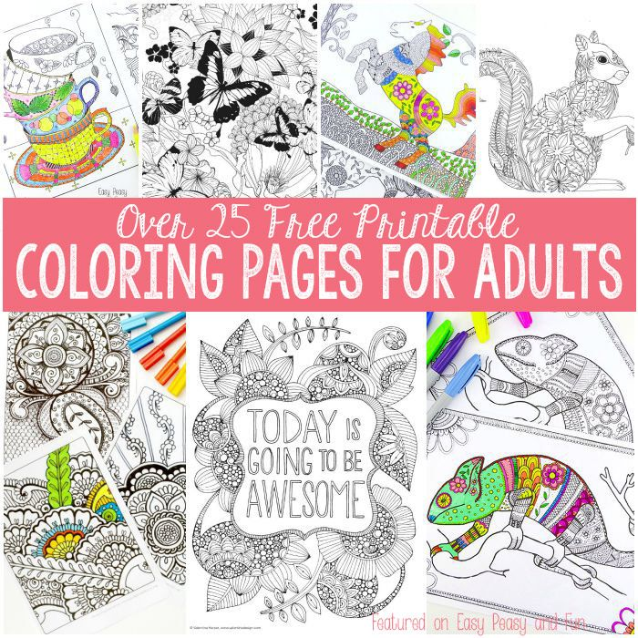 free coloring pages for adults - Free Easy Coloring Pages Printable