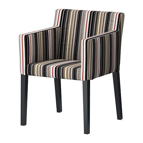 NILS Chaise à accoudoirs IKEA Le siège et le dossier rembourrés ainsi que les accoudoirs offrent un grand confort d'assise.