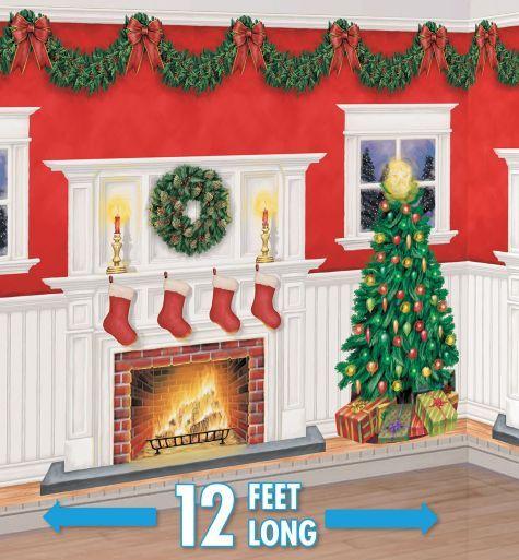 Home for Christmas Scene Setter Kit - Party City - hotel room for christmas?