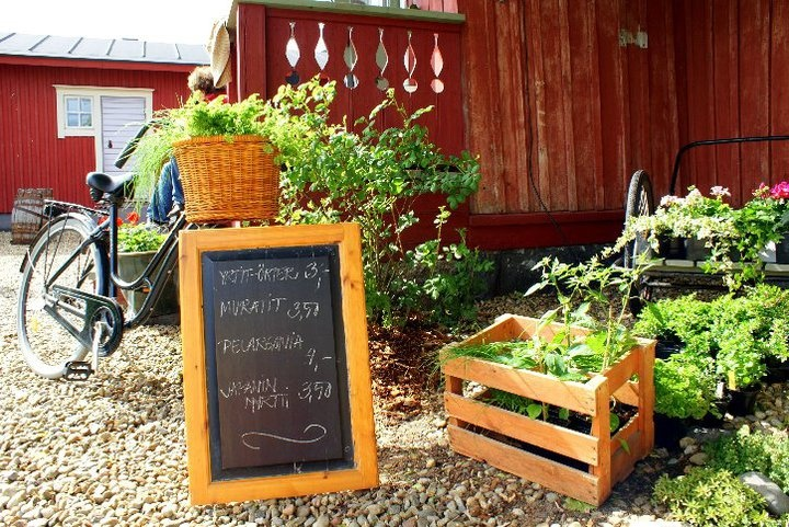 Garden in Kristinestad during Öppna Portar-Avoimet Portit