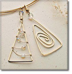It's never too early to get ready for the holidays! Download the free project sheet and make these simple wire tree pendants--or use them as earrings, ornaments, package decorations, etc. How many different designs can you think of? Christmas Tree Pendant - Jewelry Making Daily