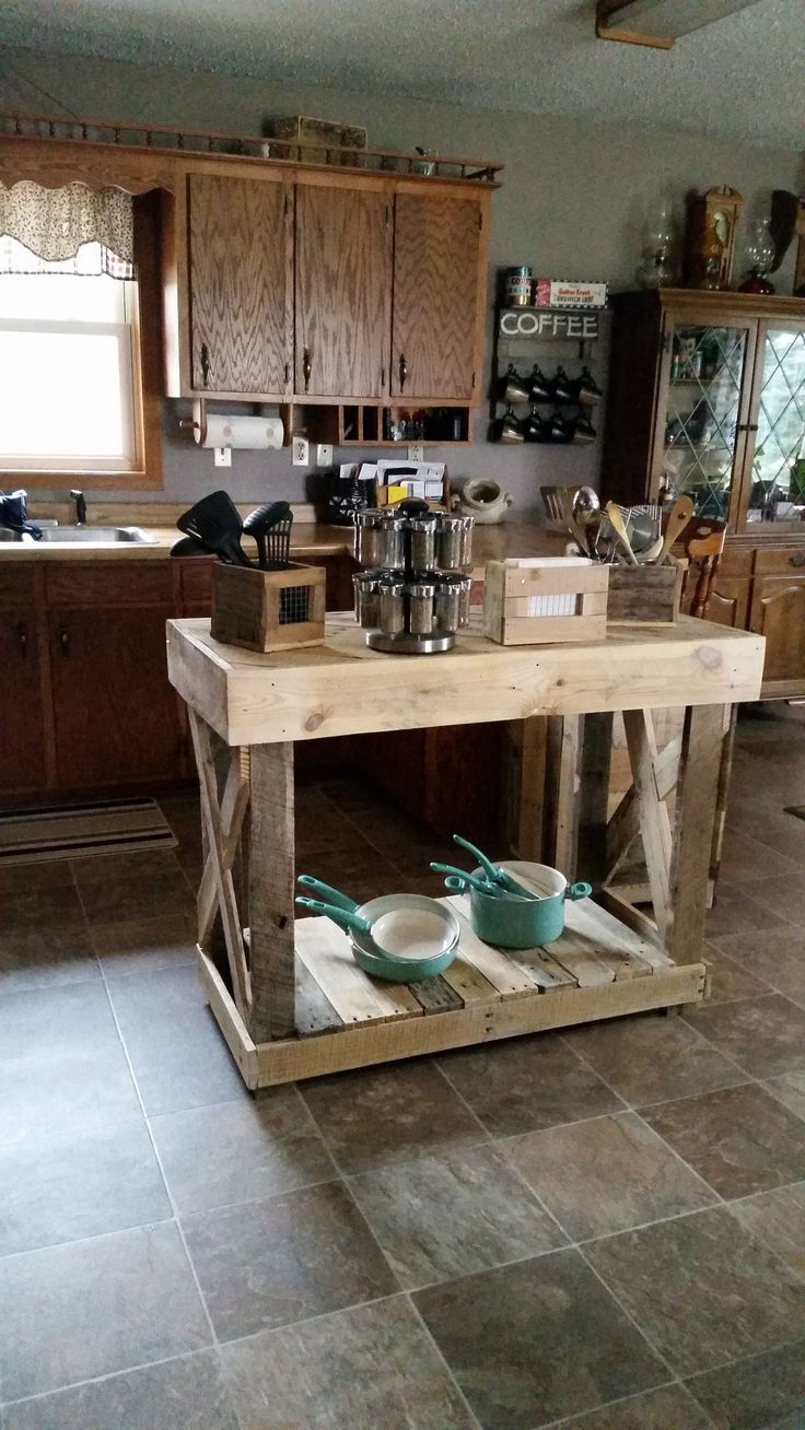 Kitchen island pallet wood - Kitchen Island