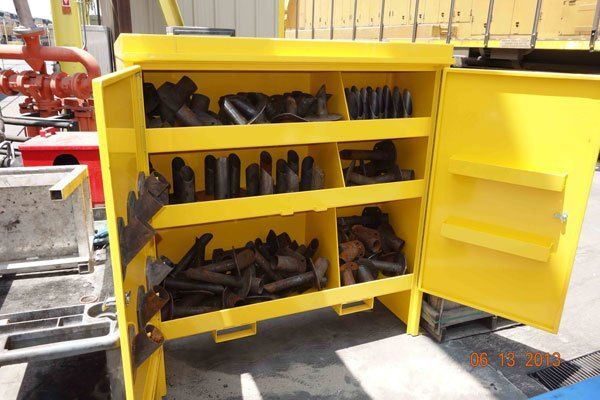 Metal Parts Cabinets With Locking Doors And Fork Pockets Sheet Metal Fabrication Storage Cabinets Custom Cabinets