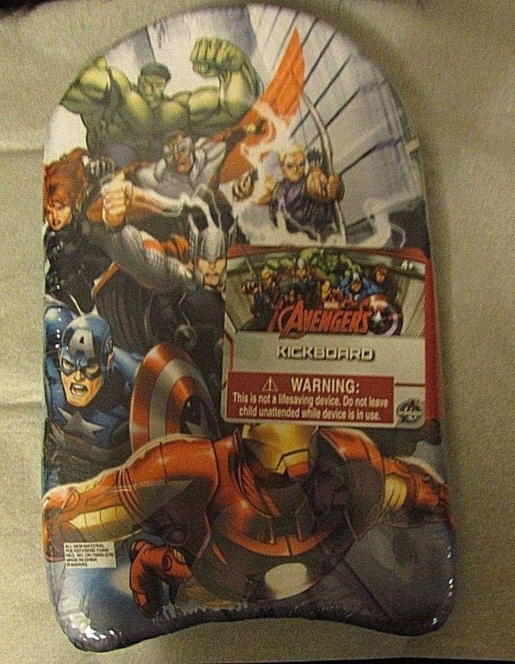 Kick Board swimming aid Marvel Avengers kid's Hulk black Widow Thor Capt America #KidswantwhatINC