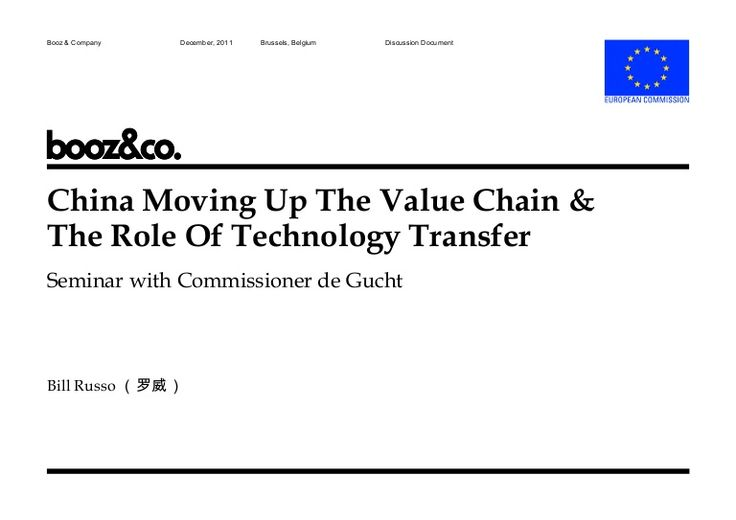 China Moving Up the Value Chain and Role of Technology Transfer by Synergistics Limited