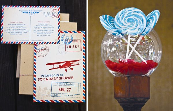Baby Shower Gifts Mail ~ Best images about travel party on pinterest vintage