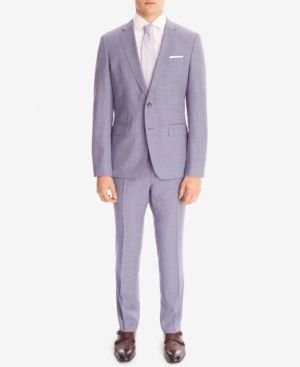 Boss Men's Slim-Fit Wool Suit - Blue 38R