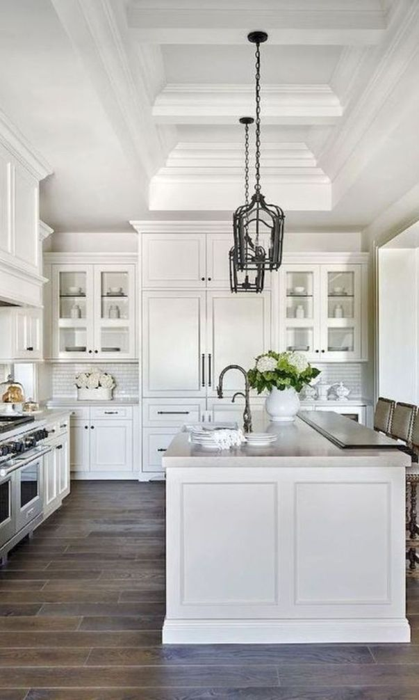 62 Custom Awesome Kitchen Cabinet Models And Designs 2020 Part 16 Farmhouse Kitchen Design White Kitchen Design Gorgeous White Kitchen
