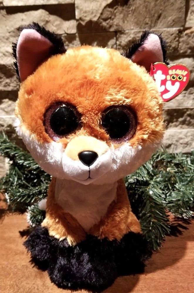 c4b8dbd652a Ty Slick Fox Beanie Boo Plush Stuffed Animal 9