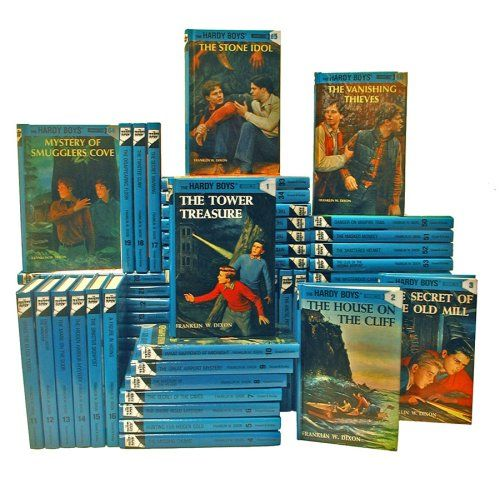 Hardy Boys Series. Old books, but good for mysteries!!
