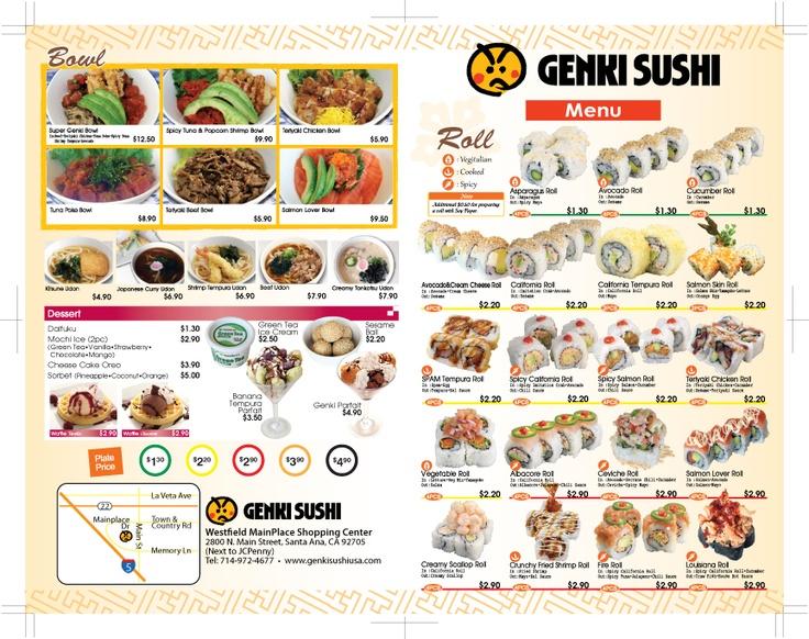 Genki-Sushi California TakeOut Menu
