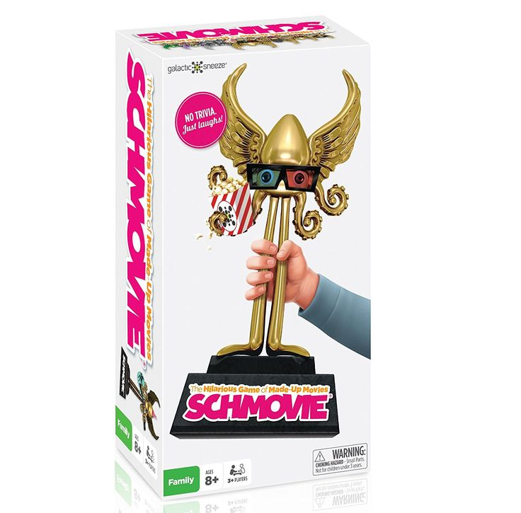 Amazon.com: NEW Schmovie: The Hilarious Game of Made-Up Movies (Family / Party Board Game for Kids, Teens, Adults - Boys & Girls Ages 8 & Up): Galactic Sneeze: Toys & Games