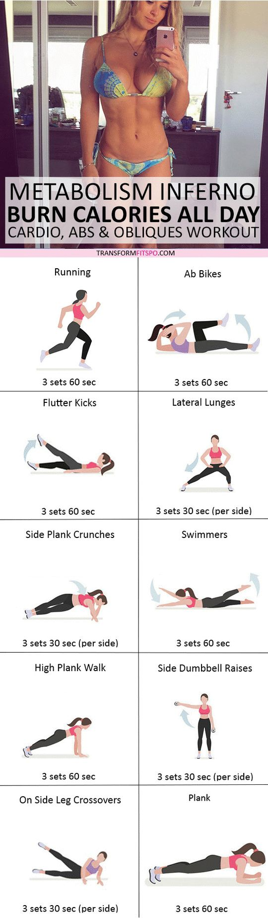 #womensworkout #workout #femalefitness Repin and share if this workout turned you into a calorie furnace! Click the pin for the full workout.