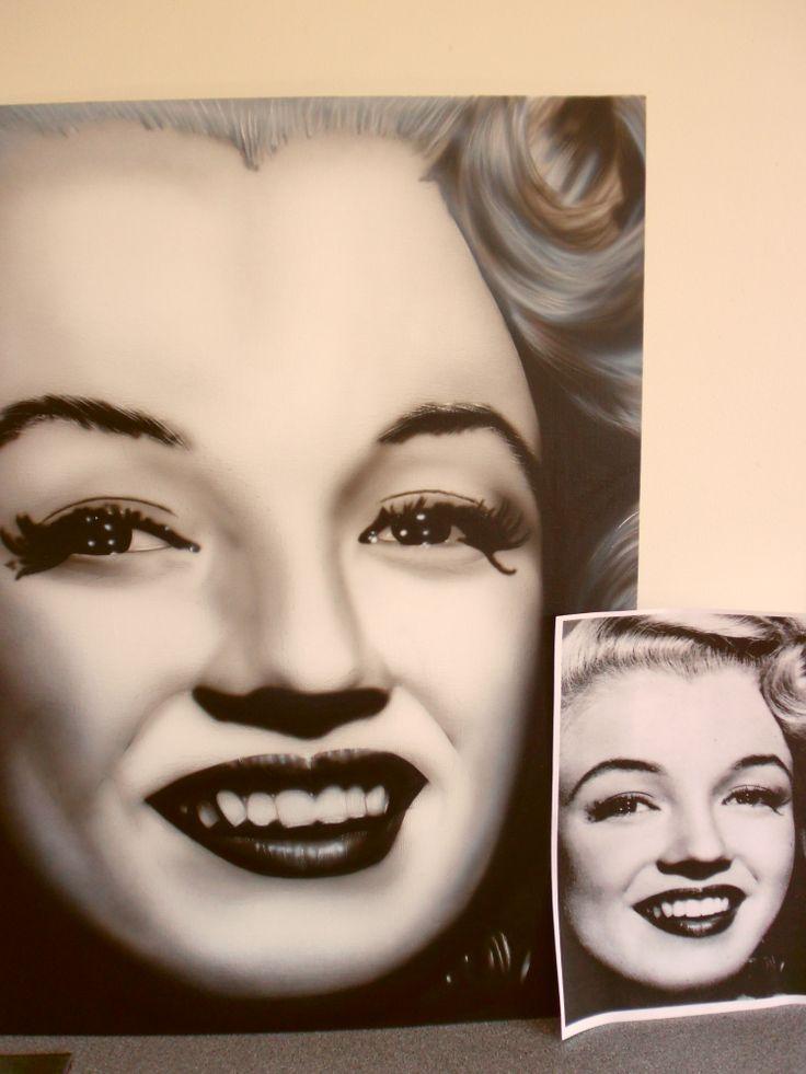 Marilyn Monroe - airbrush it