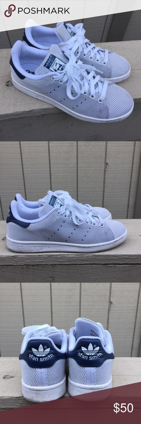 ADIDAS ORIGINALS Stan Smith Weave Sneakers Size 6 Worn but still in good condition, please see pics for details. Lighting is a little off, body of the sneakers are actually white! US SIZE 6.5 (Men's), UK 6, EUR 39.5. Adidas sizing are a little different, please confirm your adidas stan smith sizing before purchasing! Adidas Shoes Sneakers