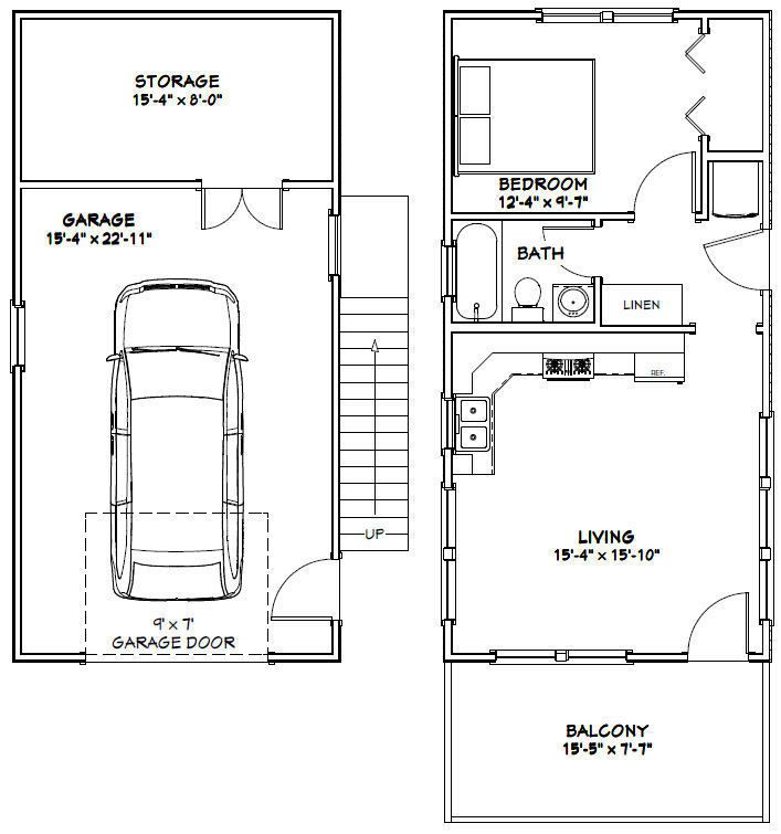1417 best images about basement apartment on pinterest for 16x32 2 story house plans