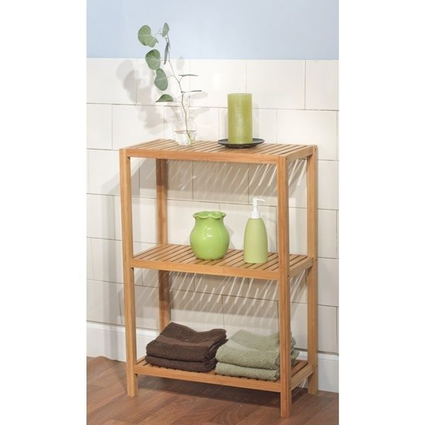 Bathroom Space Saver 3 Tier Bamboo Shelf Perfect For Towels Knickknacks Multiuse #SimpleLiving