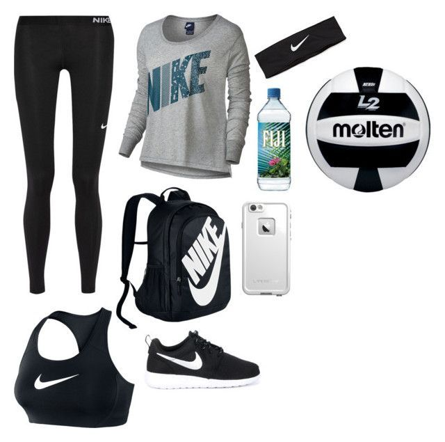 """""""Volleyball"""" by southernannabelle ❤ liked on Polyvore featuring NIKE and LifeProof"""