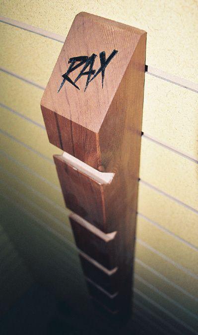 environmentally friendly skateboard rack that can hold 6 skateboards                                                                                                                                                                                 More