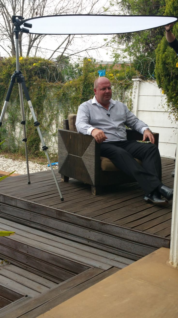 CEO of ReDPro Gerhard Claassen making us proud. Supporting the video shoot for the Sunflowerfund as part of our CSI