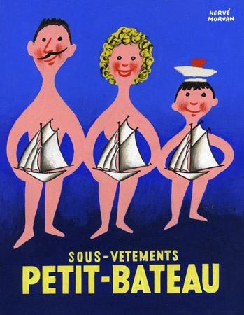 """La référence des sous-vêtements était """" Petit-Bateau"""". / By Hervé Morvan, illustrateur."""
