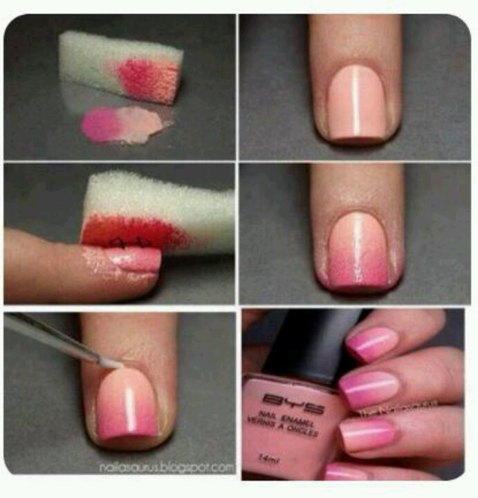 How To: Fade-Out Nail Color