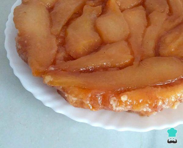 Receta de Tarta tatín de pera #RecetasGratis #RecetasdeCocina #RecetasFáciles #Postres #PostresFáciles #Desserts #PostresCaseros #Tartas #Tatín #Pera
