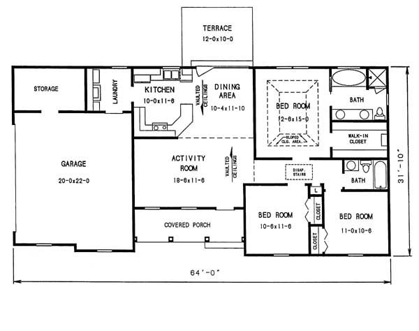 1009 - 3 Bedrooms and 2 Baths | The House Designers