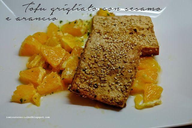 Tofu grigliato con sesamo e arancio