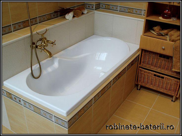 Cada baie Oliveira 150 x 70 cm din compozit marmura