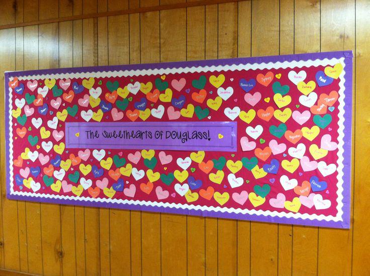 Valentine bulletin board: Bullentin Boards, Valentines Bulletin, Schools Bulletin, Valentines Boards, Valentines Secret, Bulletin Boards Doors, Boards Ideas, Bulletin Ideas, Doors Bulletin Boards