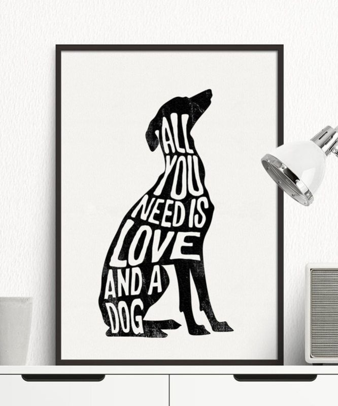 Minimalist Abstract Dog Poster Italian Greyhound Wall Art Print Canvas Painting Deer Nordic Wall Pictures Living Room Home Decor Quadri Astratti Astratto